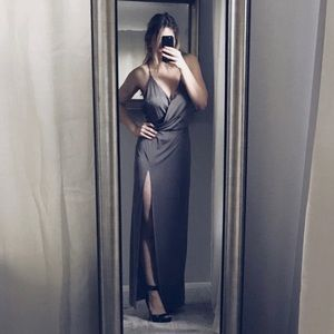 Reformation Martini Dress, Size Sm, Color: Tin Man